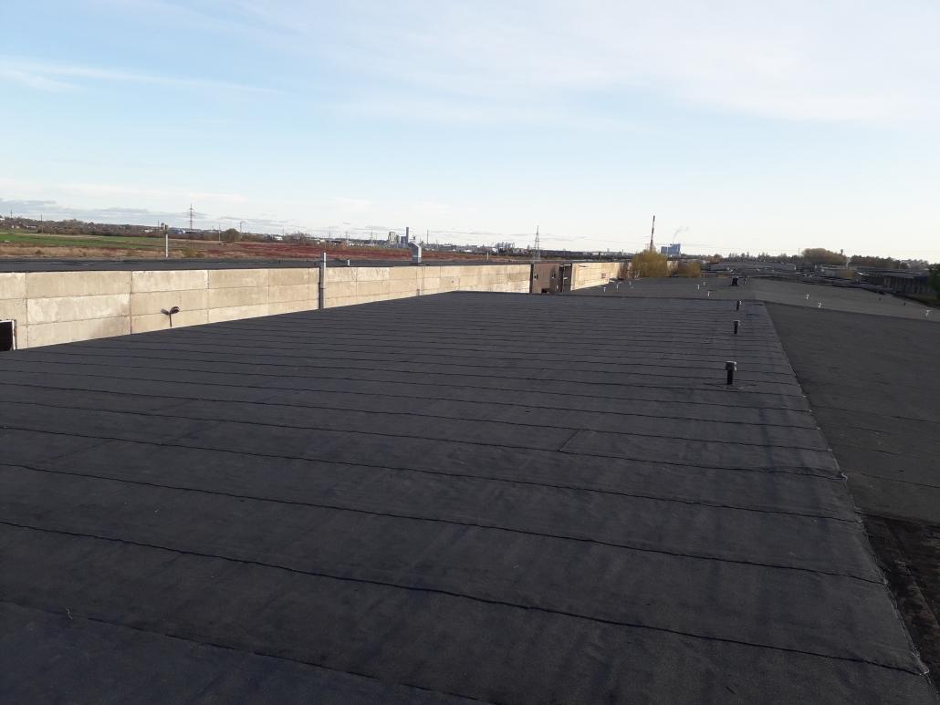 prilydomos dangos plokscias stogas po remonto